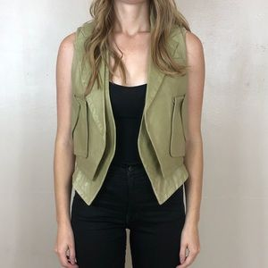 Alexander Wang beige lamb leather vest size 4